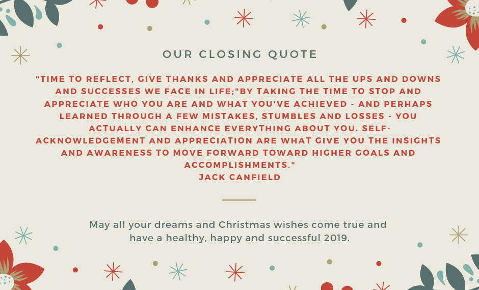 Our closing quote