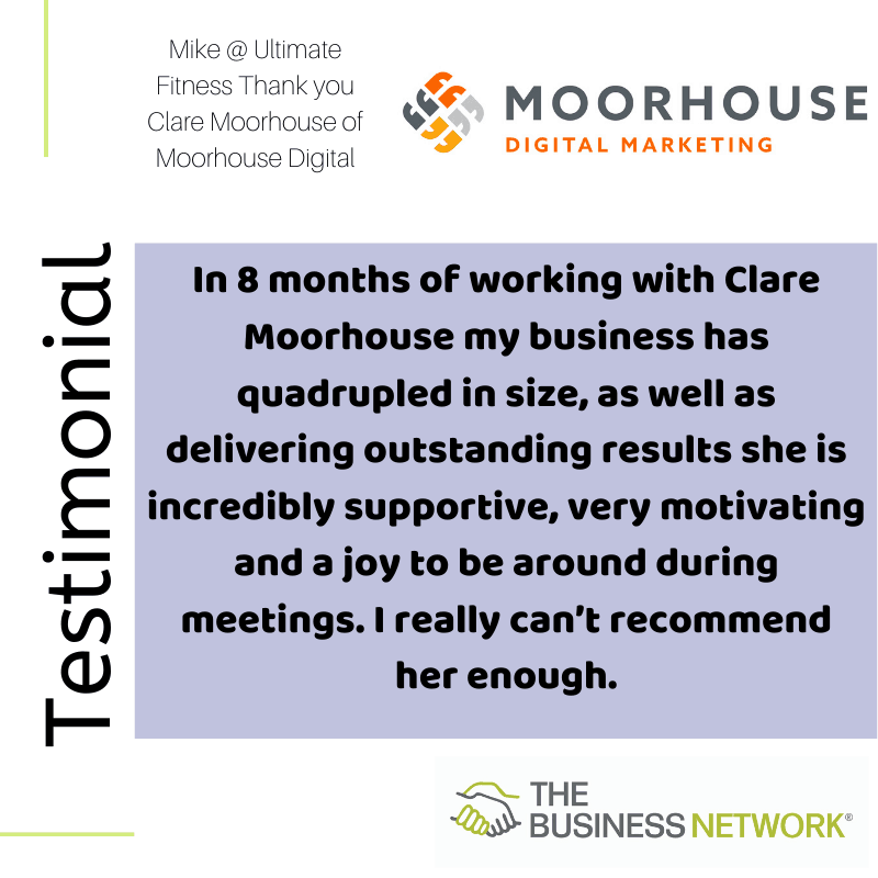 business networking testimonials Clare Moorhouse