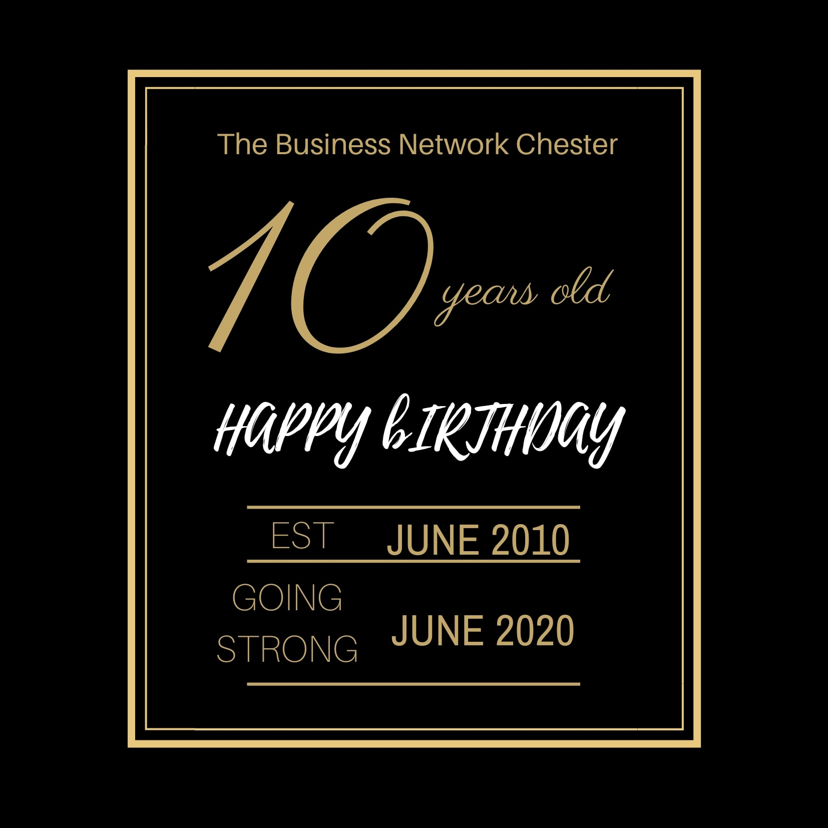 Online Business Networking event The Business Network Chester turns 10 years old