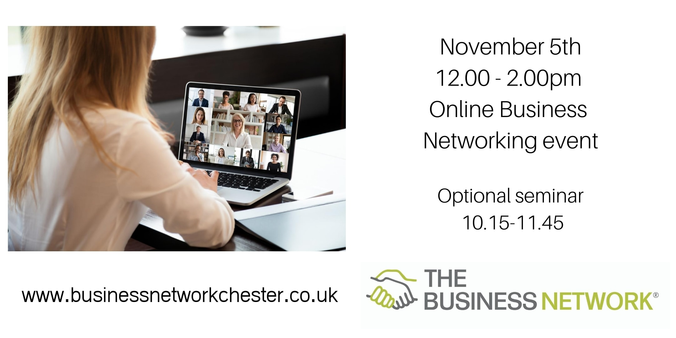 5th November Online Business Networking event