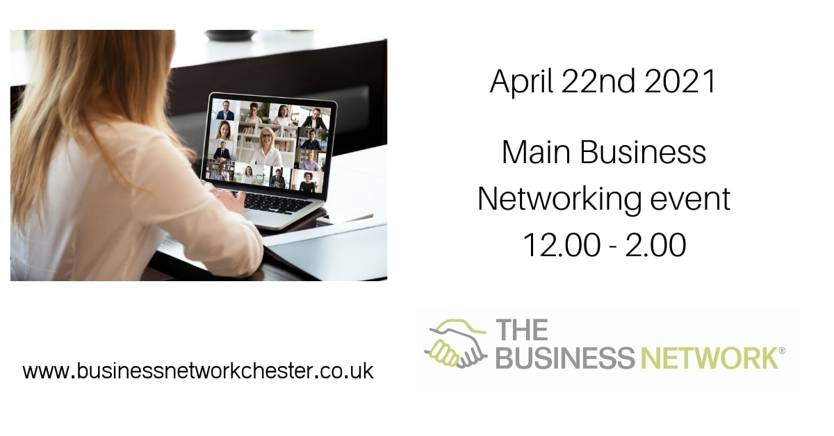 Business Networking event 22nd April 2021